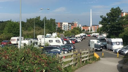 The travellers arrived at West End Road on Wednesday night before moving on to Bramford Lane Rec. PI