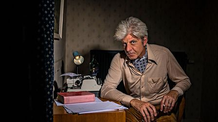 Geir Madland stars in The Writer, a scene of which I was an extra in. Photo: John Ferguson