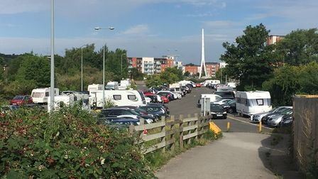 Ipswich Borough Council is taking steps to move on a group of travellers who have parked up on West
