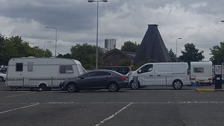 Travellers have pitched up again in the West End Road car park in Ipswich.