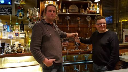 Last years winners of the Briarbank Homebrewing Competition, Jason Jones and Charlie Abbott. Picture