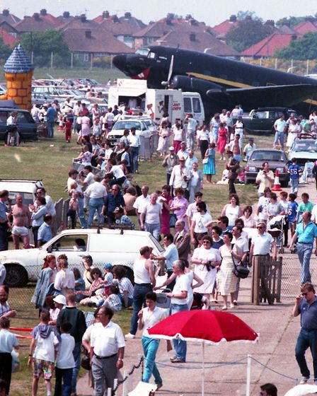 The air races attracted hundeds of people to Ipswich Airport