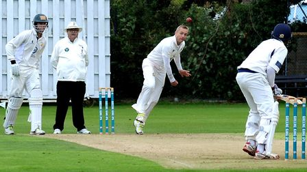 Bury St Edmunds bowler, Sean Cooper, who took three for 28 off 10 overs in his side's shock win over