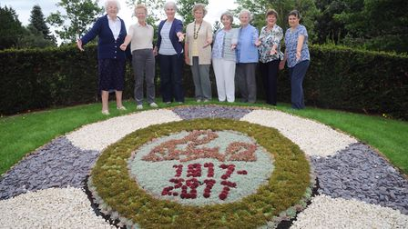 A display of flowers has been created in the arboretum in Christchurch Park to celebrate the 100th a