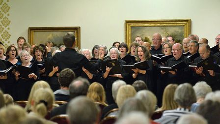 The Ipswich Choral Society in concert at Christchurch Mansion. Picture: MATT CLARKE