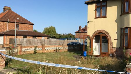 The first incident this week was in Landseer Road outside this house - although police have said the
