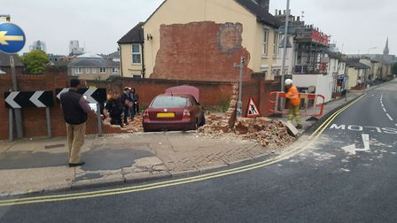 The crash happened on the corner of Argyle Street and Woodbridge Road. Picture: ARCHANT