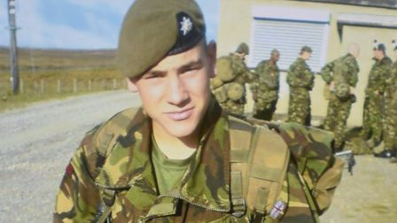 Aaron McClure in his Army gear. Picture: CONTRIBUTED BY FAMILY