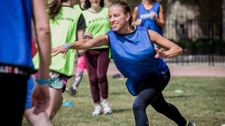 Rabble is an event which allows adults to play children's playground games.