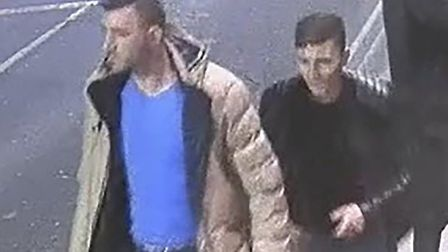 The two men accused of the attempted rape seen on CCTV. The men denied the charge. Picture: SUFFOLK