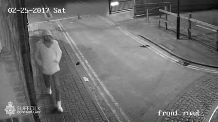 One of the CCTV images issued by police after the Rope Walk attack. Picture: SUFFOLK CONSTABULARY