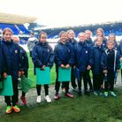 Members of Capel Plough FC, who were ball girls for Ipswich Town's first game of the season against