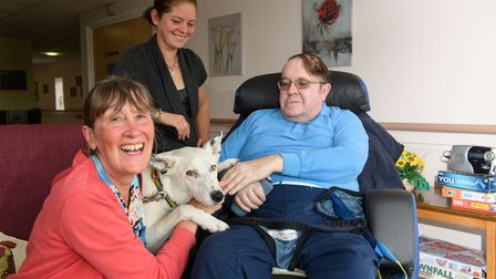 Lily with owner, Anne Goad, Brian Mellowship and Sophie Mayes. Picture: CLIVE TAGG