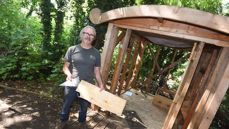 Brickmakers Wood Project has been left devastated by vandalism. Pictured is project leader Rob Brook