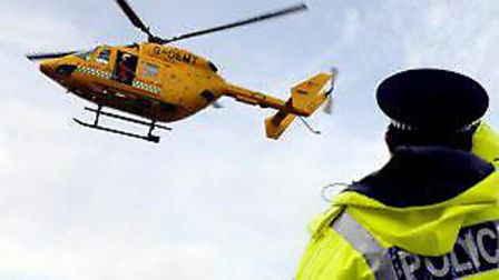 An air ambulance was sent to the scene at Heathlands Park (stock image).