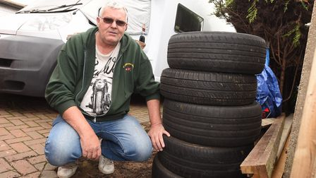 A fly-tipping dispute involving five car tyres, Ipswich pensioner Gary Coote and Ipswich Borough Cou