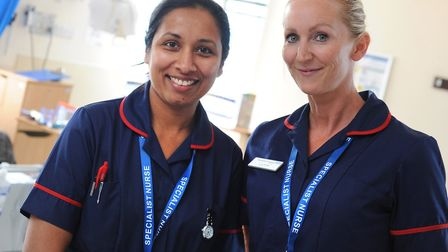 Manju Markose and Lucy Butler. Picture: IPSWICH HOSPITAL