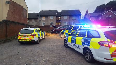 Police at the scene of a crash in Argyle Street. Picture: ARCHANT
