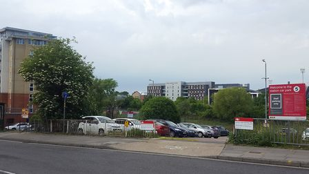 The site of the proposed Travelodge in Ranelagh Road, Ipswic. Picture: MATT STOTT