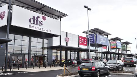 Futura Park, one of the retail parks around the edge of Ipswich. Picture: LUCY TAYLOR
