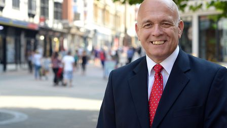 Terry Baxter said Ipswich was ready to compete for new town centre buisnesses. Picture: ARCHANT