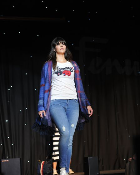 Geraldine Milsom's fashion show in collaboration with Fenwick, which is raising funds for Gina Long'