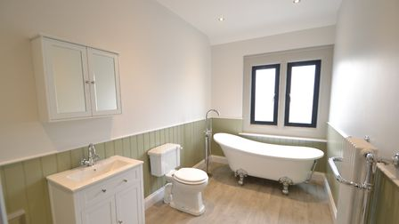 A bathroom in one of the homes at the former Haven pub. Picture: FENN WRIGHT
