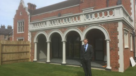 Jason Sewell in the garden of the show house at The Follies, Felixstowe Road. It was the former Have