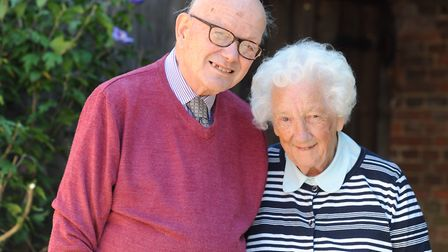 Jerry and Maureen Corder at their Hadleigh home. Picture: SARAH LUCY BROWN