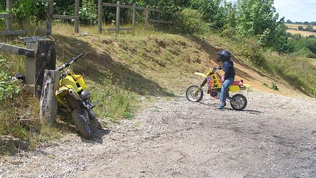 Scrambler bikes in action at Bobbits Lane in Belstead Brook Park. Picture: CONTRIBUTED