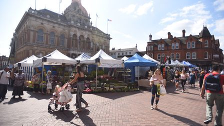 Ipswich market is a popular and bustling area of Suffolk's county town. Picture: GREGG BROWN