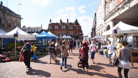 Ipswich market place is in the centre of the town close to the Town Hall and Corn Exchange. Picture: