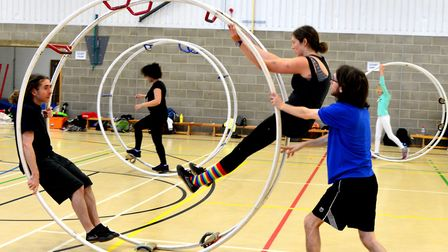 Torwood Wheelers hold a taster session at Kegrave Sports Centre for Wheel Gymnastics. Picture: SIMON