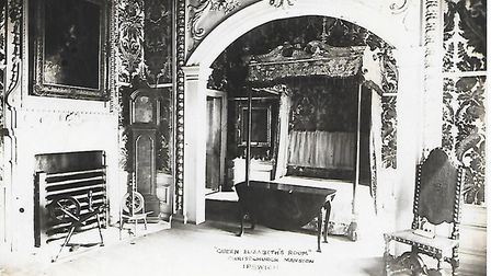 Inside Christchurch Mansion in days gone by; Queen Elizabeths Room'. Picture: CONTRIBUTED.