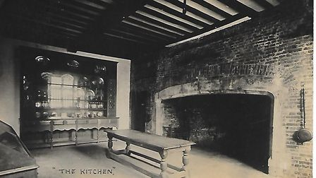 Inside Christ Church Mansion in days gone by; the kitchen, with fine and large fireplace. Picture: C