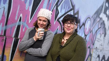 The Tea Pot Project in Ipswich. Mischa Pearson and Kat Gosling. Picture: SARAH LUCY BROWN