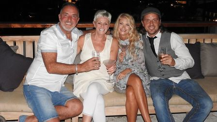 Paul and Marilyn Nixon with their son James and daughter-in-law Rachel. Picture: PAUL NIXON PHOTOGRA
