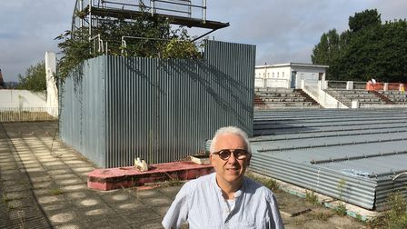 Alan Wilkinson beside the diving board at Broomhill Pool. Picture: PAUL GEATER