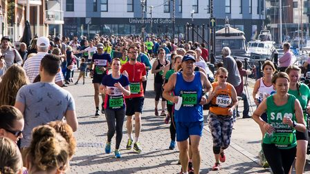 There were hundreds of spectactors along Ipswich waterfront for yesterday morning's race.PICTUR
