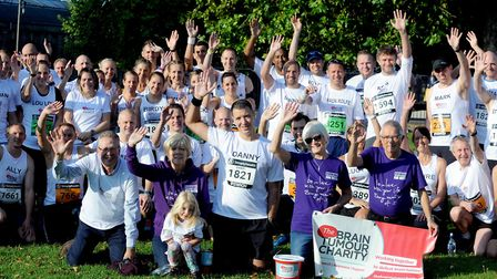 Danny Mehmed, daughter Lydia and the Runners For Ruth team who took part in the first Simplyhealth G