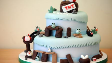 The Angry Bird cake is one of the special orders by The Little Cake Place in Ipswich. Picture: SU AN