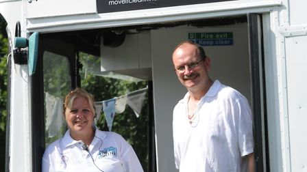 Ipswich MP Sandy Martin MP pictured with Sarah Jane Brenland at the Tiffers Bus Shelter for the home