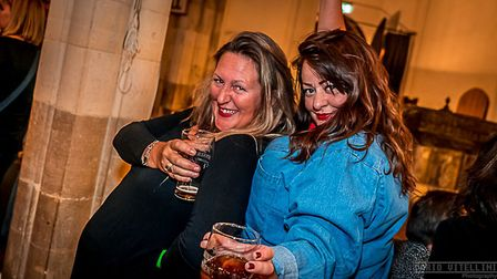 Customers enjoying the Saints Oktoberfest at St peter's by the Waterfront. Picture: DARIO VITELLINI