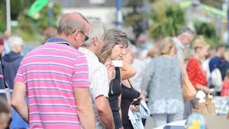 Thousands of people flocked to Felixstowe for the Art on the Prom event. Picture: SARAH LUCY BROWN