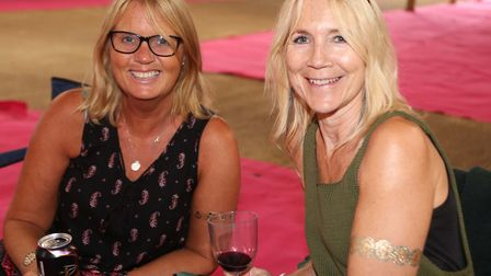 Carol Mitchell and Caroline Pewtress at the Suffolk Sounds festival. Picture: SEANA HUGHES