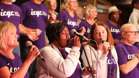 The Ipswich Gospel Choir were among the line-up. Picture: SEANA HUGHES