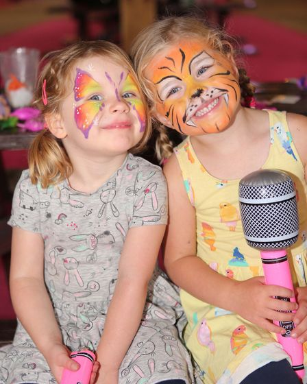 Evie Millidge and Isabella Batchelor enjoying the event. Picture: SEANA HUGHES