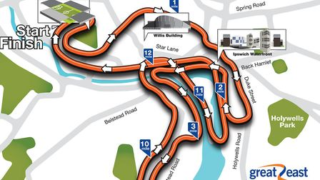 The course map of the Great East Run Ipswich 2017. Picture: THE GREAT RUN COMPANY