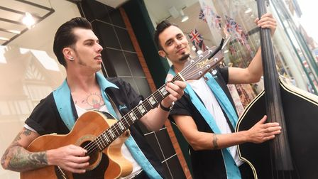 J.S and The Lockerbillies busking. Picture: LUCY TAYLOR