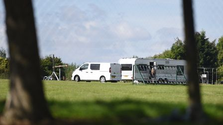 Travellers were moved on from Bramford Lane Recreation Ground in July. Picture: ARCHANT